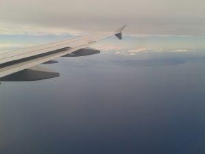 Die irische Küste in Sicht