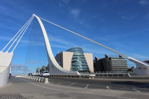 Samuel Backett Bridge and the Convention Centre